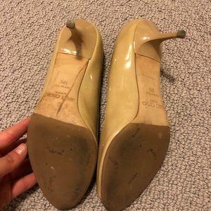 Jimmy Choo Shoes - Jimmy Choo Peep Toe 1.5 Inch Nude Pumps